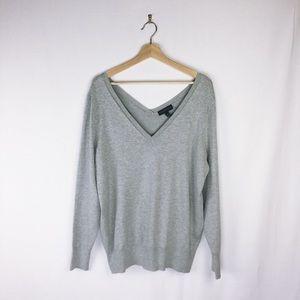 Lane Bryant Grey V-Neck Sweater